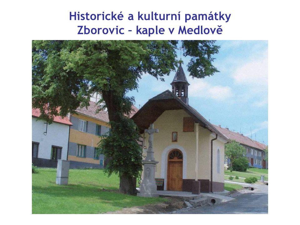 Historické a kulturní památky Zborovic – kaple v Medlově