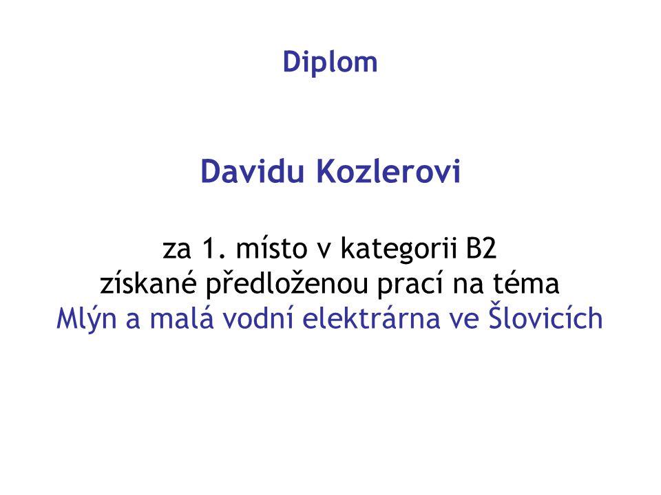 Diplom Davidu Kozlerovi za 1.