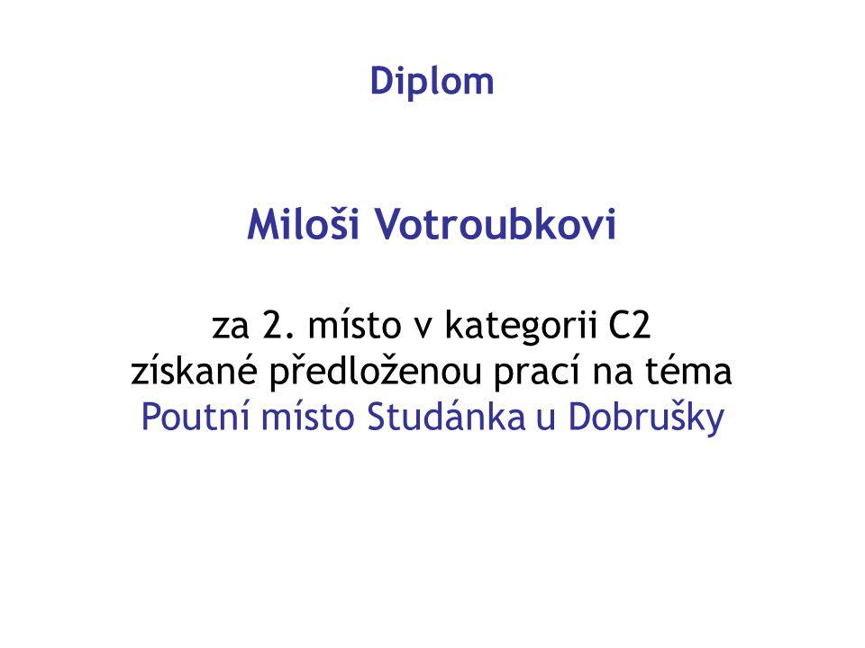 Diplom Miloši Votroubkovi za 2.