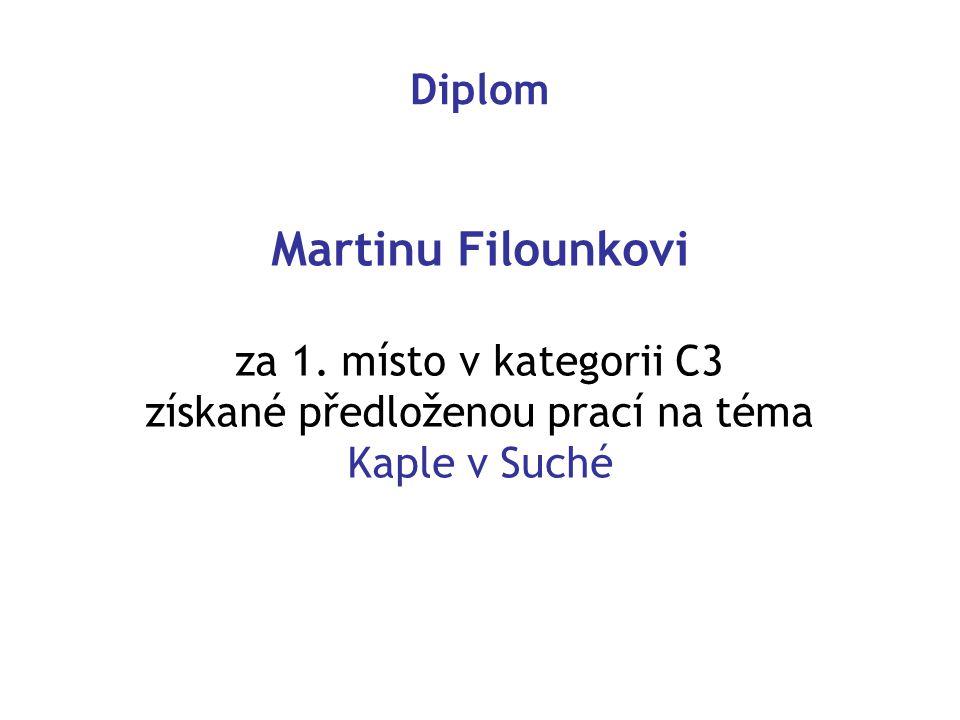Diplom Martinu Filounkovi za 1.