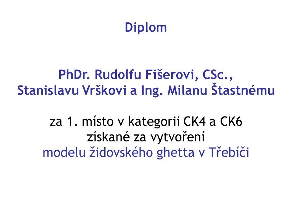 Diplom PhDr.Rudolfu Fišerovi, CSc., Stanislavu Vrškovi a Ing.