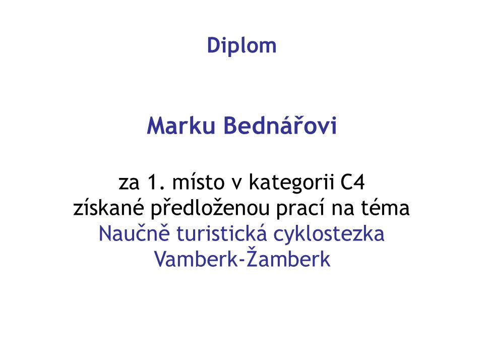 Diplom Marku Bednářovi za 1.