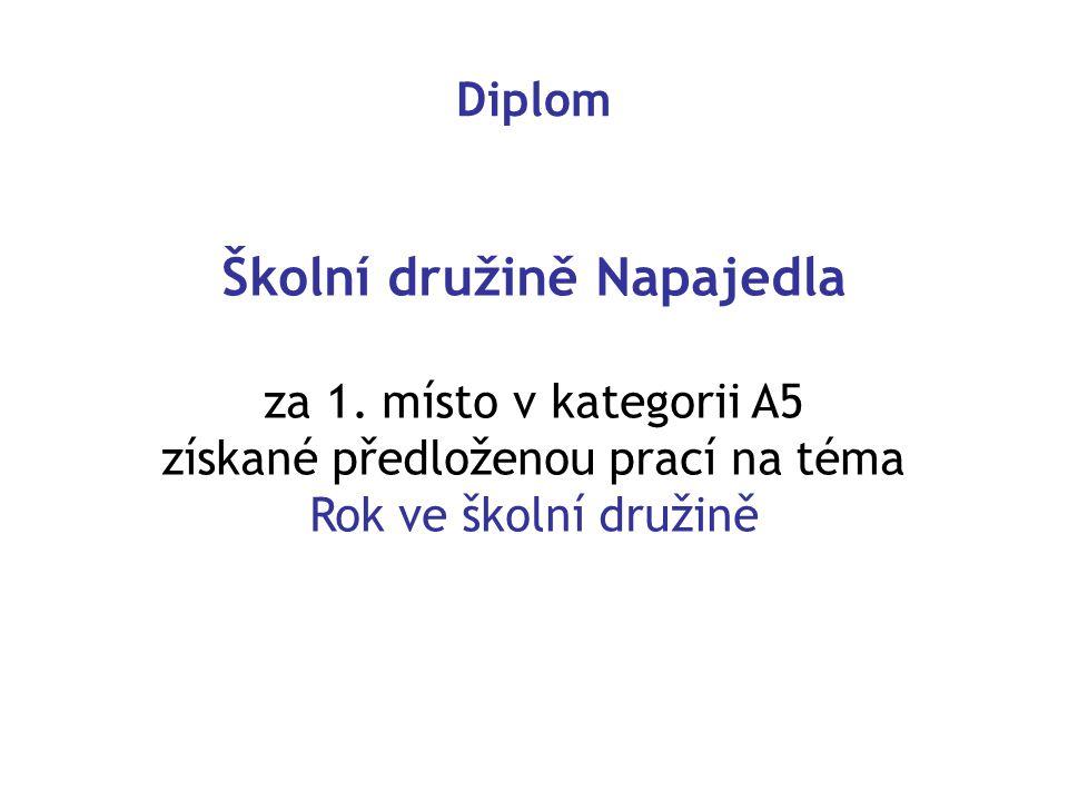Diplom Školní družině Napajedla za 1.