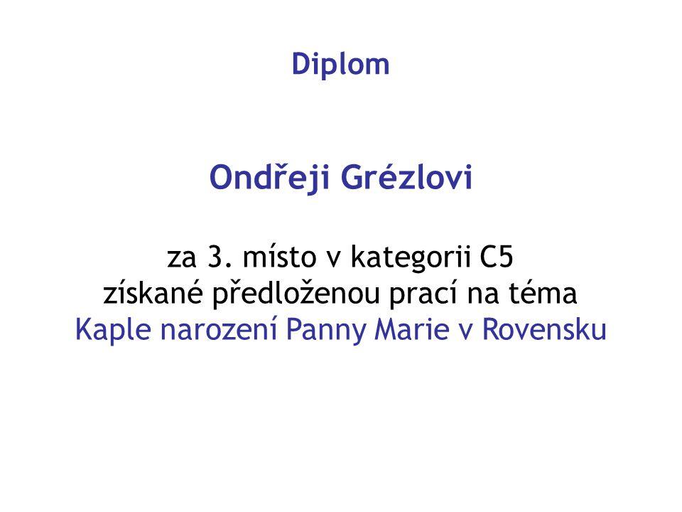 Diplom Ondřeji Grézlovi za 3.
