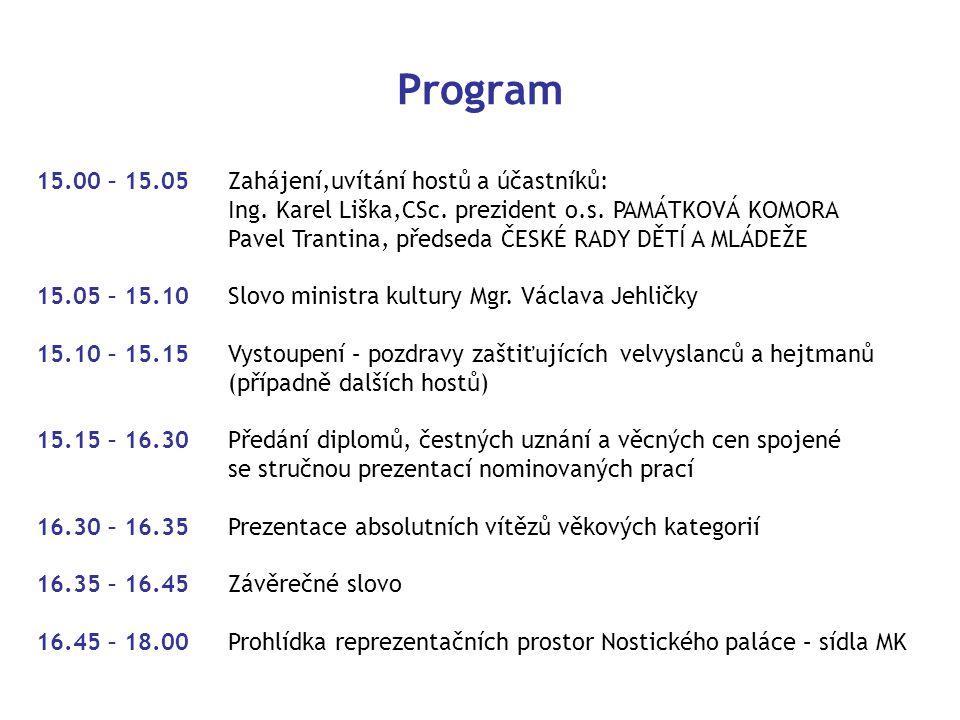 Program 15.00 – 15.05Zahájení,uvítání hostů a účastníků: Ing.