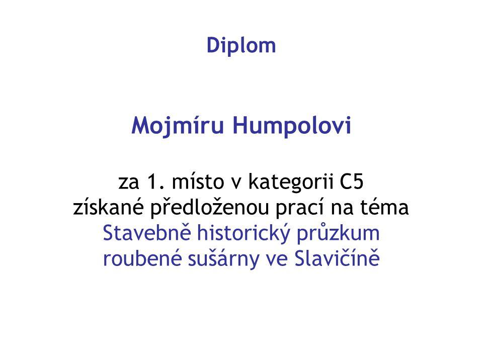 Diplom Mojmíru Humpolovi za 1.