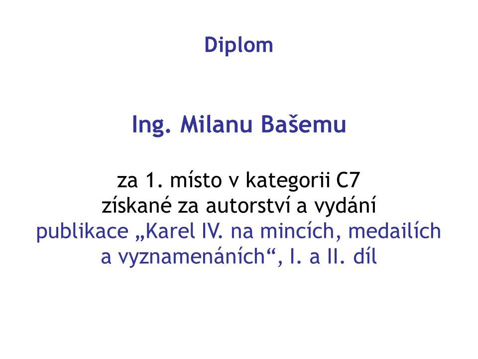 Diplom Ing.Milanu Bašemu za 1.