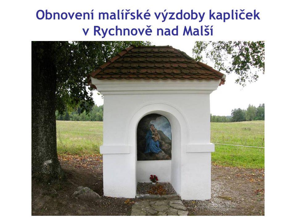 Obnovení malířské výzdoby kapliček v Rychnově nad Malší