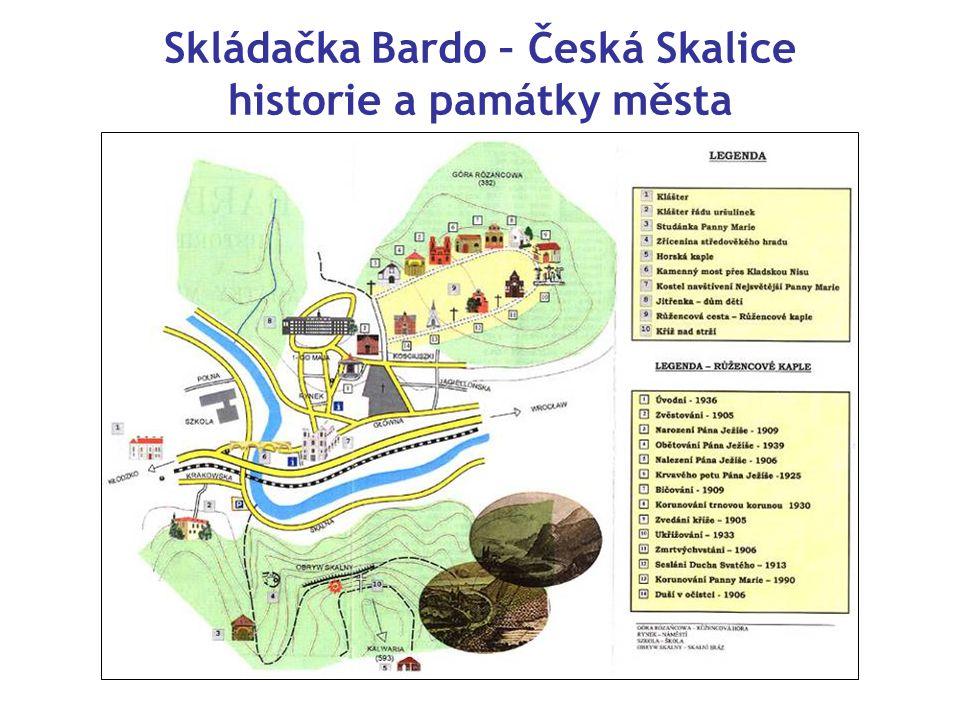 Skládačka Bardo – Česká Skalice historie a památky města