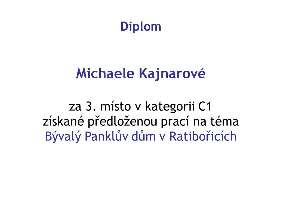 Diplom Michaele Kajnarové za 3.
