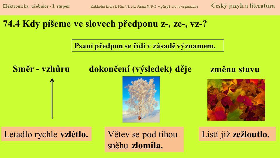 74.5 Procvičení a příklady Elektronická učebnice - I.