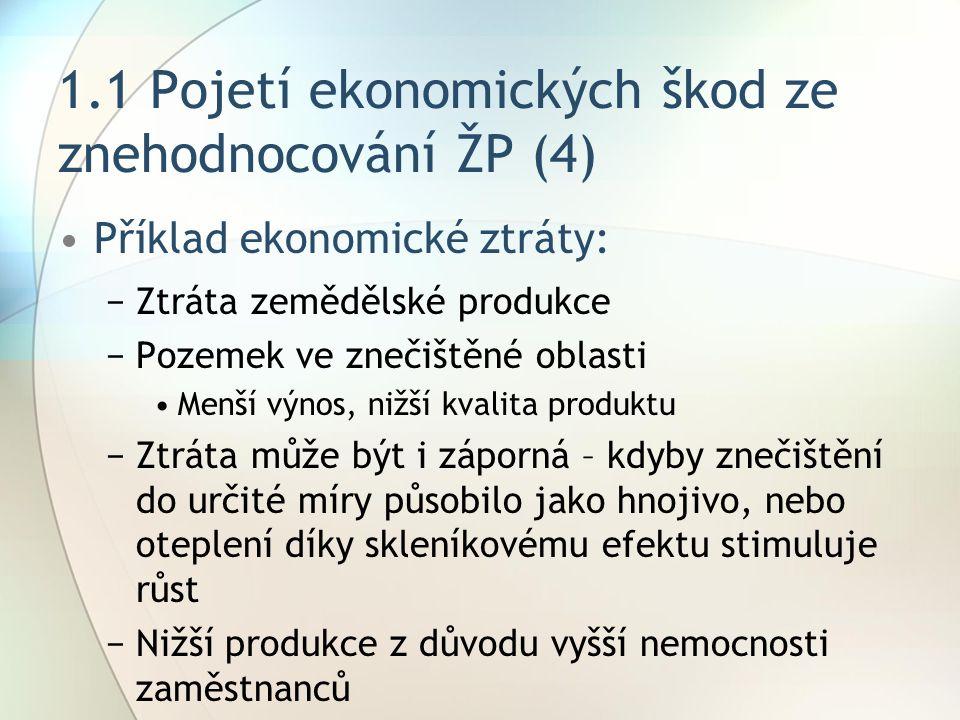1.3Cesty a metody kvantifikace ekonomických škod ze ZŽP (7) 4.