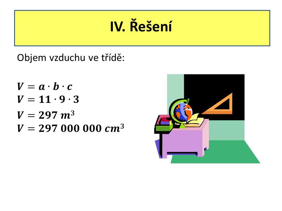 IV. Řešení