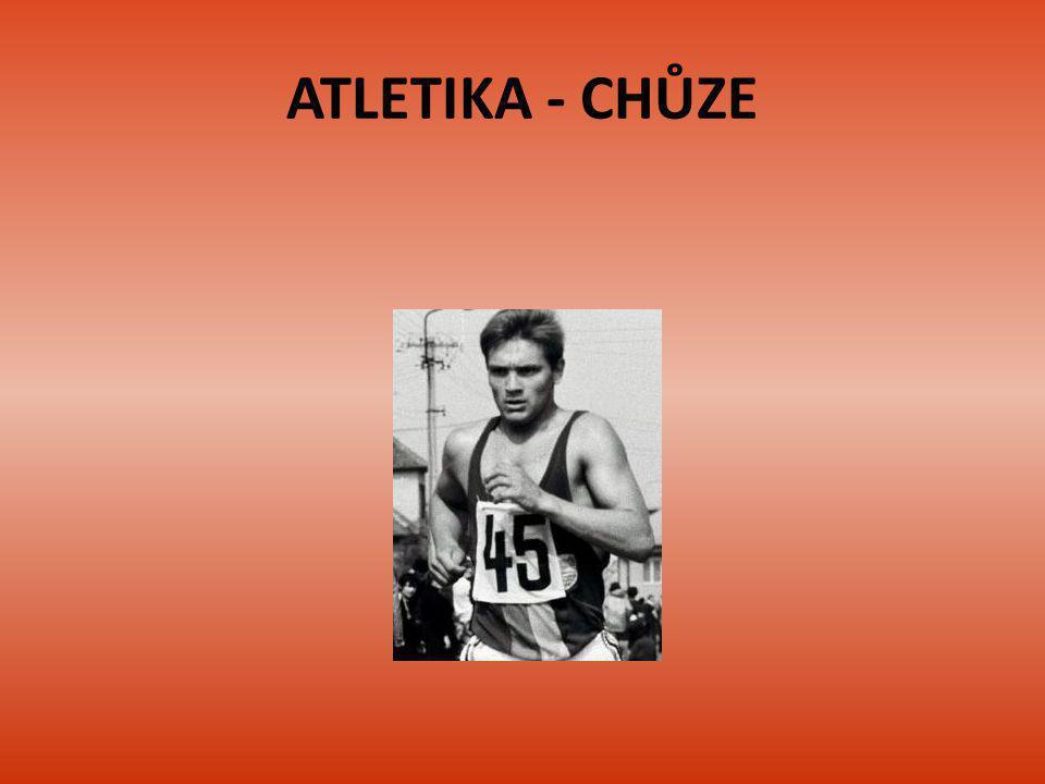Chodecké disciplíny Sportovní chůze je atletická sportovní disciplína provozovaná formou rychlochůze Jedná se o olympijskou disciplínu, na olympijských hrách se chodí 20 km, 50 km (muži) Stejné vzdálenosti se chodí i na MS a ME V hale se závodí na 3 km (ženy) a 5 km (muži)