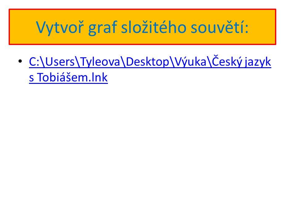 Vytvoř graf složitého souvětí: C:\Users\Tyleova\Desktop\Výuka\Český jazyk s Tobiášem.lnk C:\Users\Tyleova\Desktop\Výuka\Český jazyk s Tobiášem.lnk