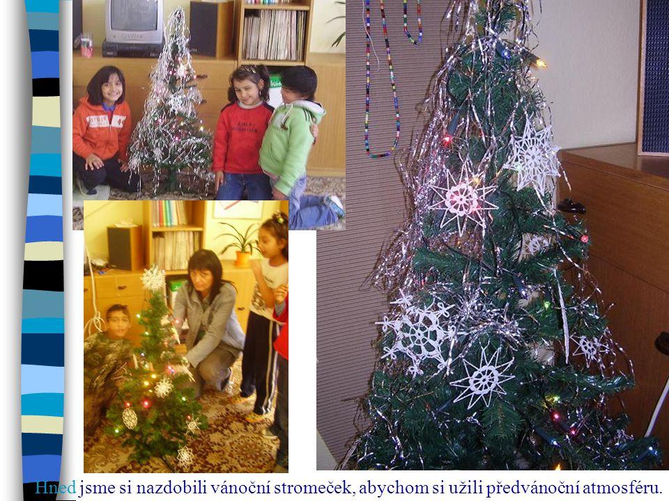 Hned jsme si nazdobili vánoční stromeček, abychom si užili předvánoční atmosféru.
