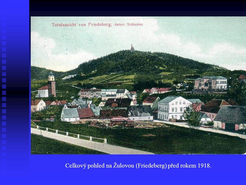 Celkový pohled na Žulovou (Friedeberg) před rokem 1918.