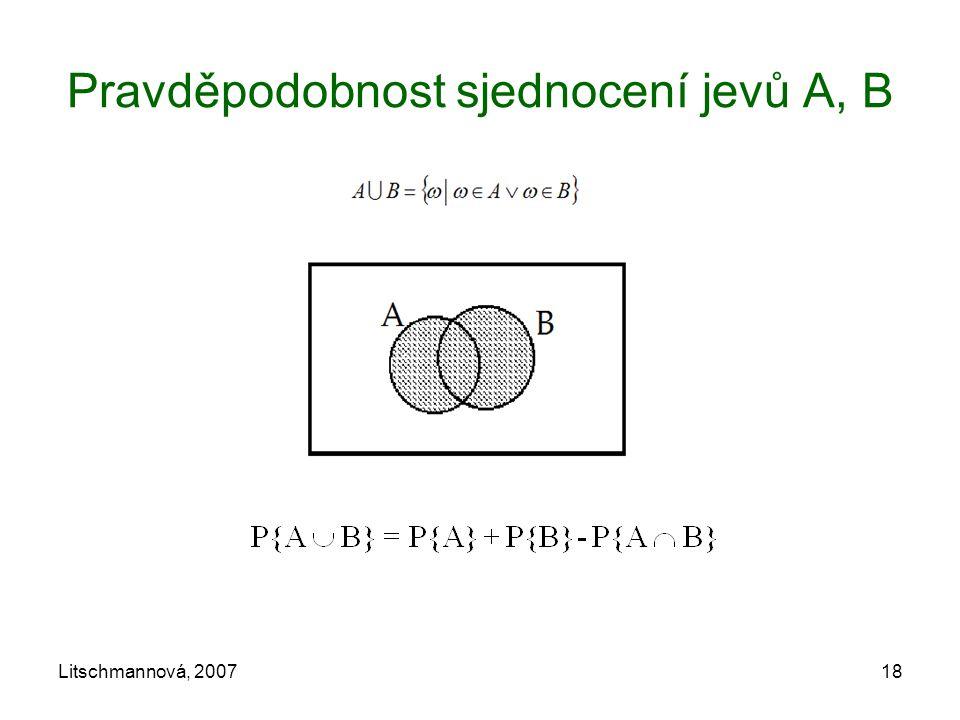 Litschmannová, 200718 Pravděpodobnost sjednocení jevů A, B