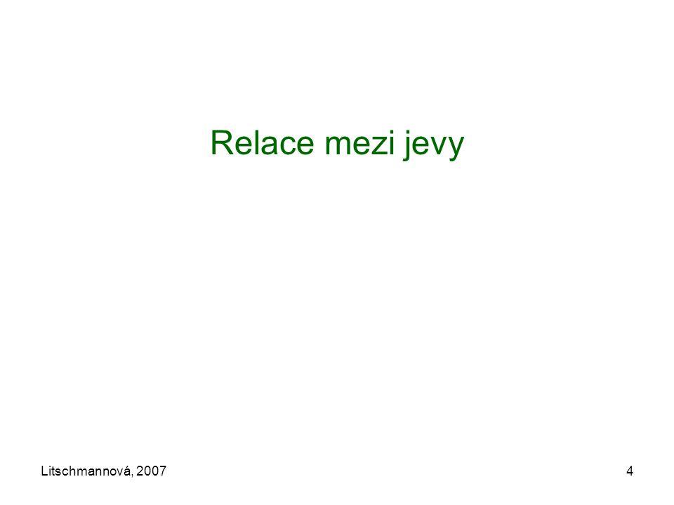 Litschmannová, 20074 Relace mezi jevy