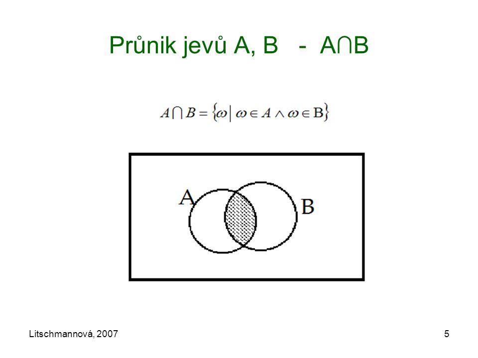 Litschmannová, 20075 Průnik jevů A, B - A∩B