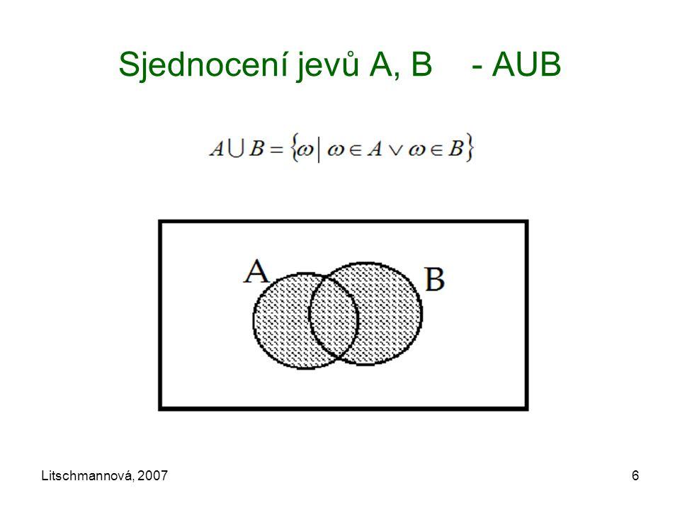 Litschmannová, 20076 Sjednocení jevů A, B - AUB