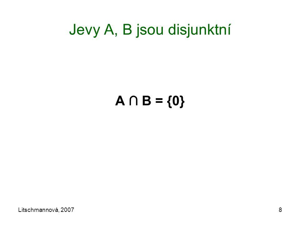 Litschmannová, 20078 Jevy A, B jsou disjunktní A ∩ B = {0}