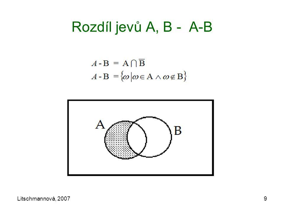 Litschmannová, 20079 Rozdíl jevů A, B - A-B