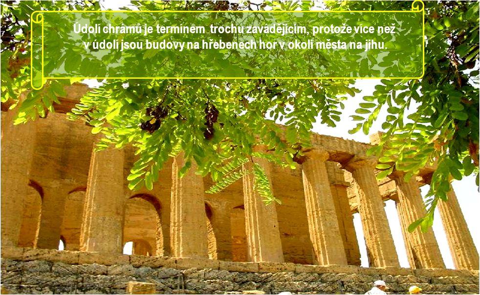 Město AGRIGENTO má nejvíce zachovalých řeckých chrámů na světě. Údolí chrámů v Agrigentu, považované za světové dědictví lidstva, básník Pindaros ozna