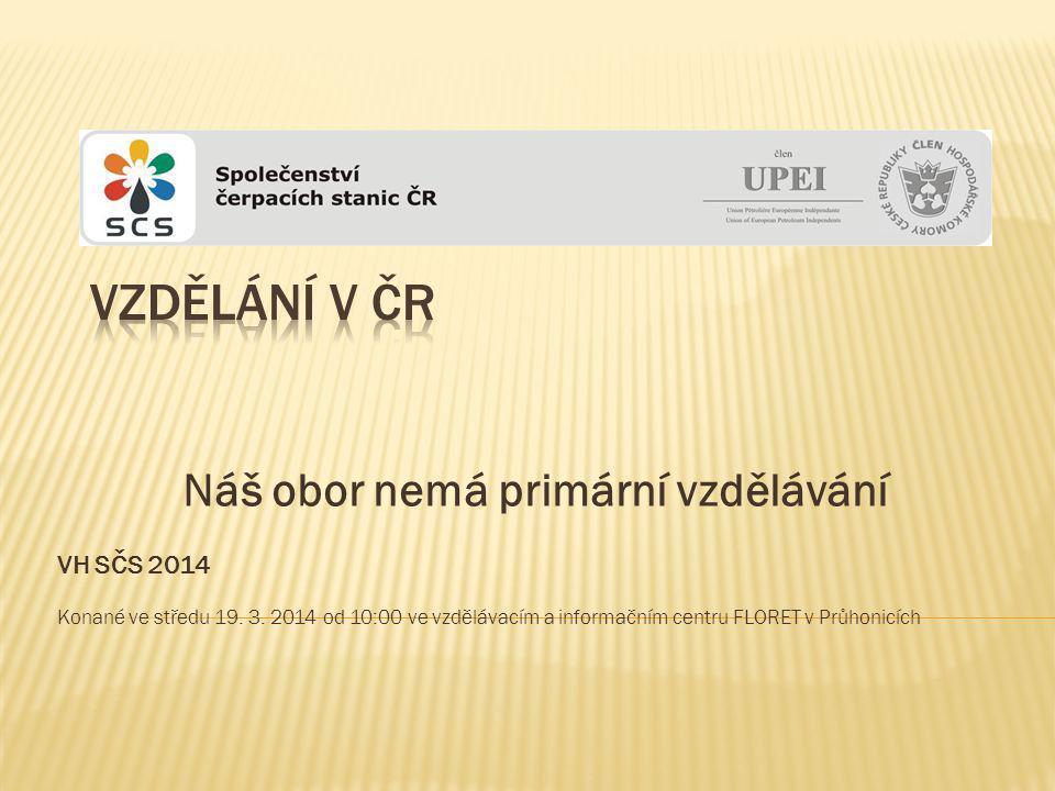 Náš obor nemá primární vzdělávání VH SČS 2014 Konané ve středu 19.