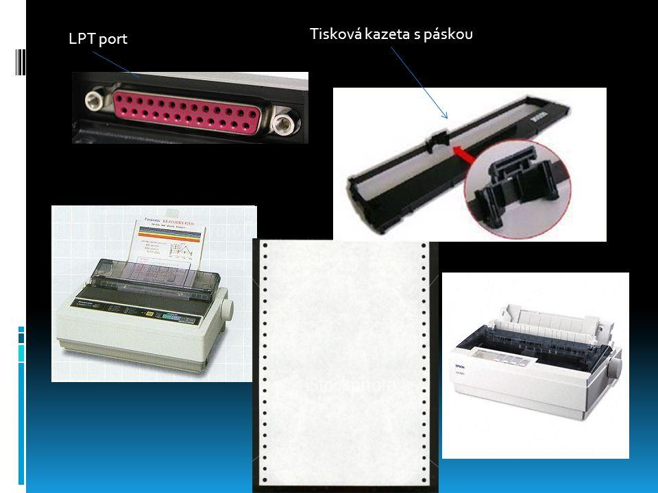 LPT port Tisková kazeta s páskou