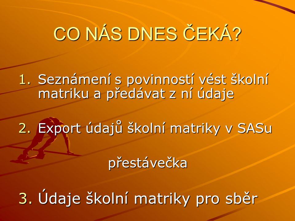 CO NÁS DNES ČEKÁ.