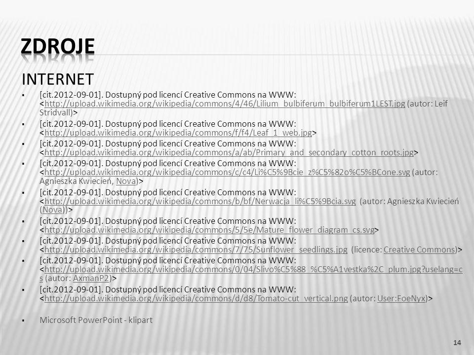 INTERNET  [cit.2012-09-01]. Dostupný pod licencí Creative Commons na WWW: http://upload.wikimedia.org/wikipedia/commons/4/46/Lilium_bulbiferum_bulbif