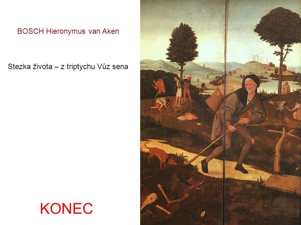 Vůz sena – triptych střední panel BOSCH Hieronymus van Aken