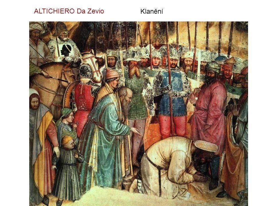 Klanění tří králů - detail GENTILE Da Fabriano