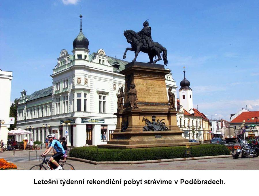 Letošní týdenní rekondiční pobyt strávíme v Poděbradech.