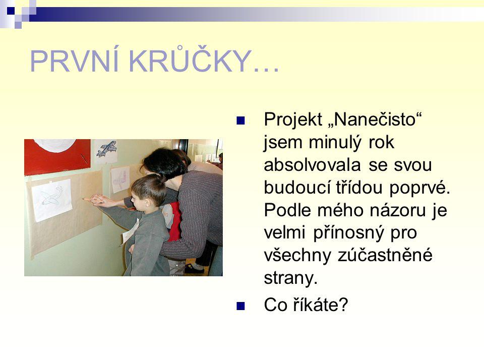 PREVENTIVNÍ AKTIVITY A – PŘEDŠKOLNÍ 1. Projekt NANEČISTO Obrazové a vzpomínkové ohlédnutí paní učitelky Lenky AUGUSTINOVÉ