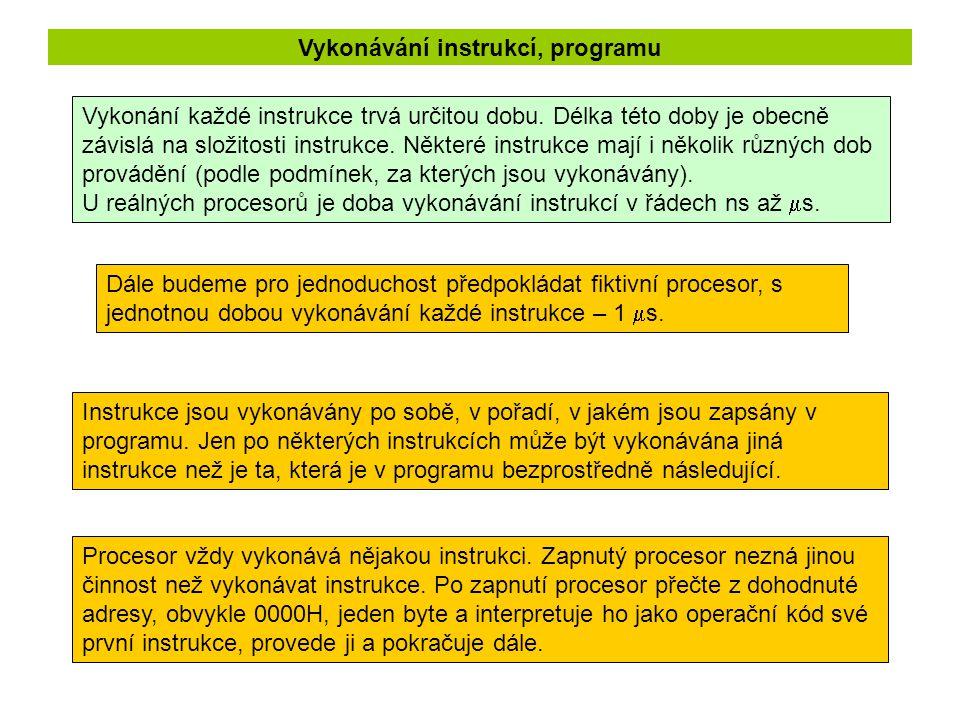 Zápis instrukce mov A, R1 Zápis instrukce se skládá ze jména instrukce a ze seznamu operandů.