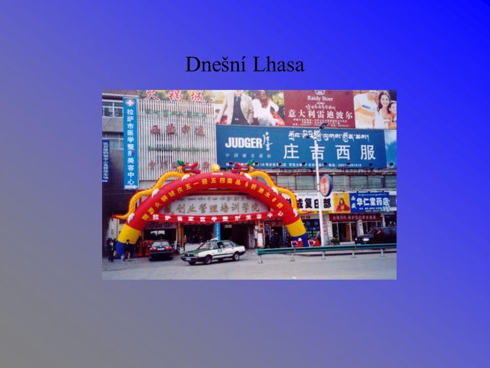 Dnešní Lhasa