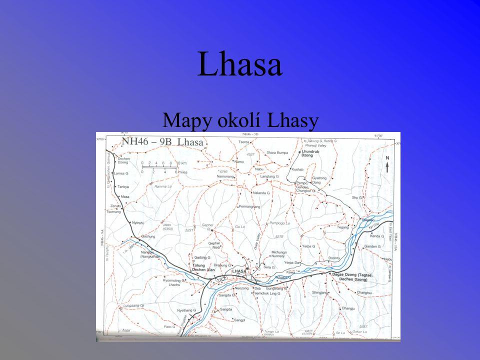 Lhasa Mapy okolí Lhasy