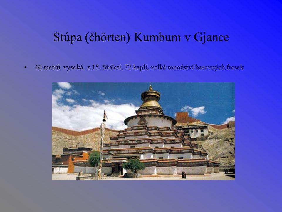 Stúpa (čhörten) Kumbum v Gjance 46 metrů vysoká, z 15.