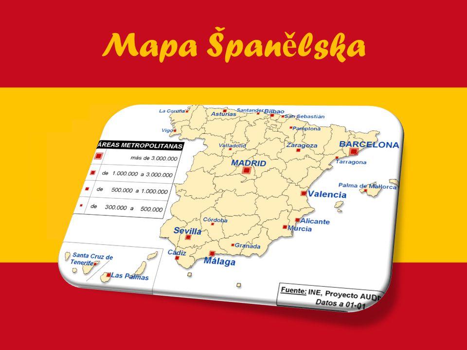 Mapa Špan ě lska