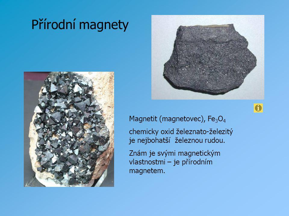 Velkým přírodním magnetem je sama Země.