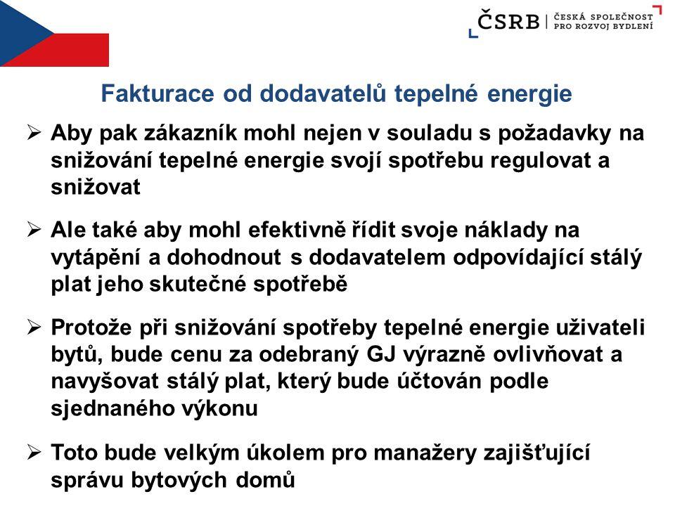 Fakturace od dodavatelů tepelné energie  Aby pak zákazník mohl nejen v souladu s požadavky na snižování tepelné energie svojí spotřebu regulovat a sn