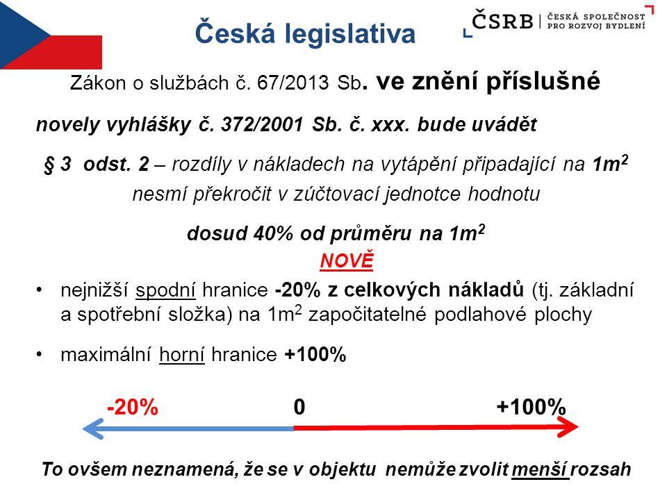 Česká legislativa Zákon o službách č. 67/2013 Sb. ve znění příslušné novely vyhlášky č. 372/2001 Sb. č. xxx. bude uvádět § 3 odst. 2 – rozdíly v nákla