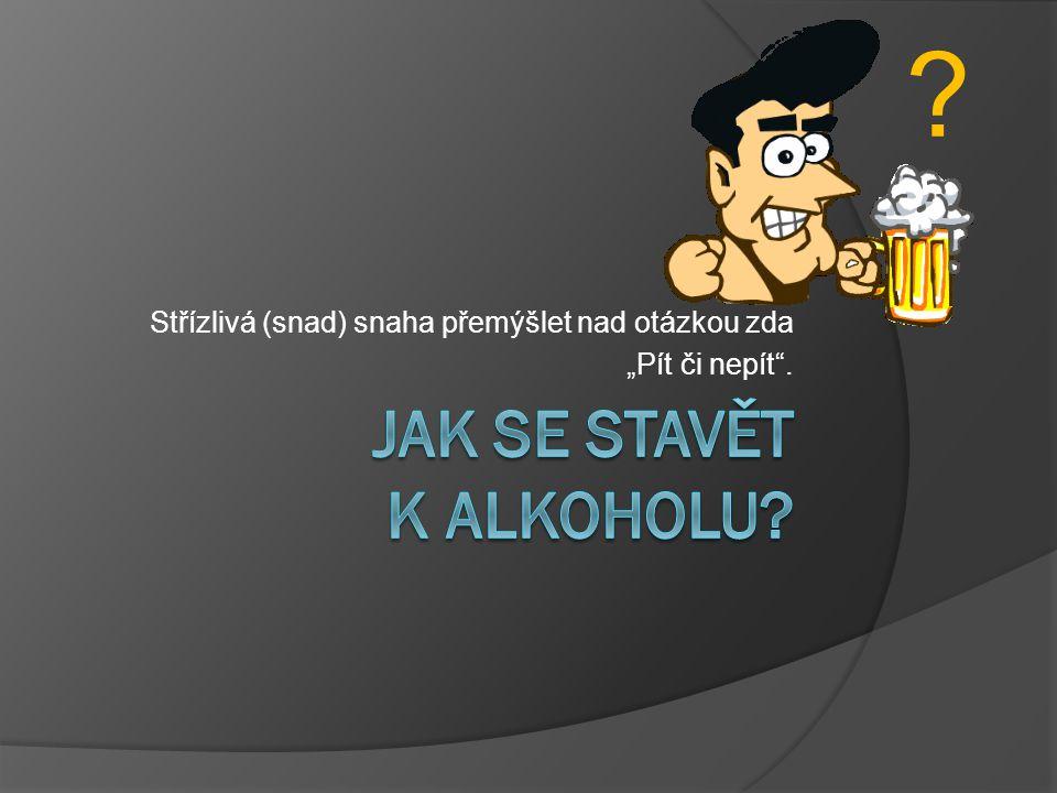 """Střízlivá (snad) snaha přemýšlet nad otázkou zda """"Pít či nepít"""". ?"""