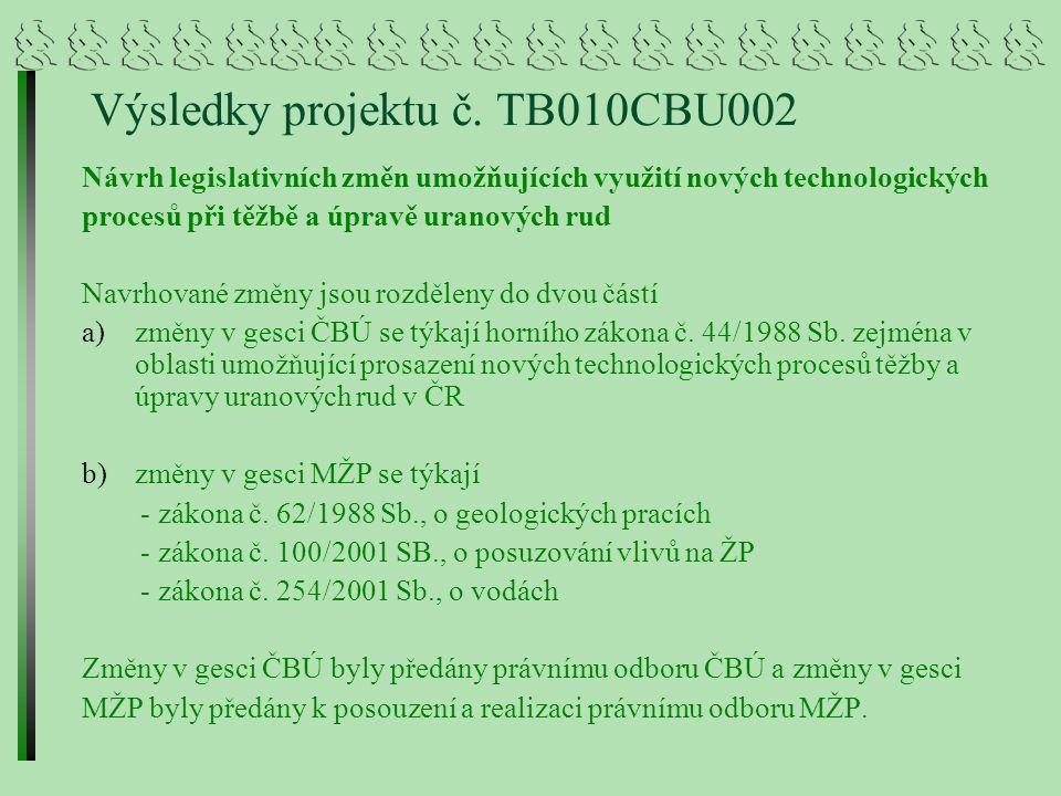Výsledky projektu č.