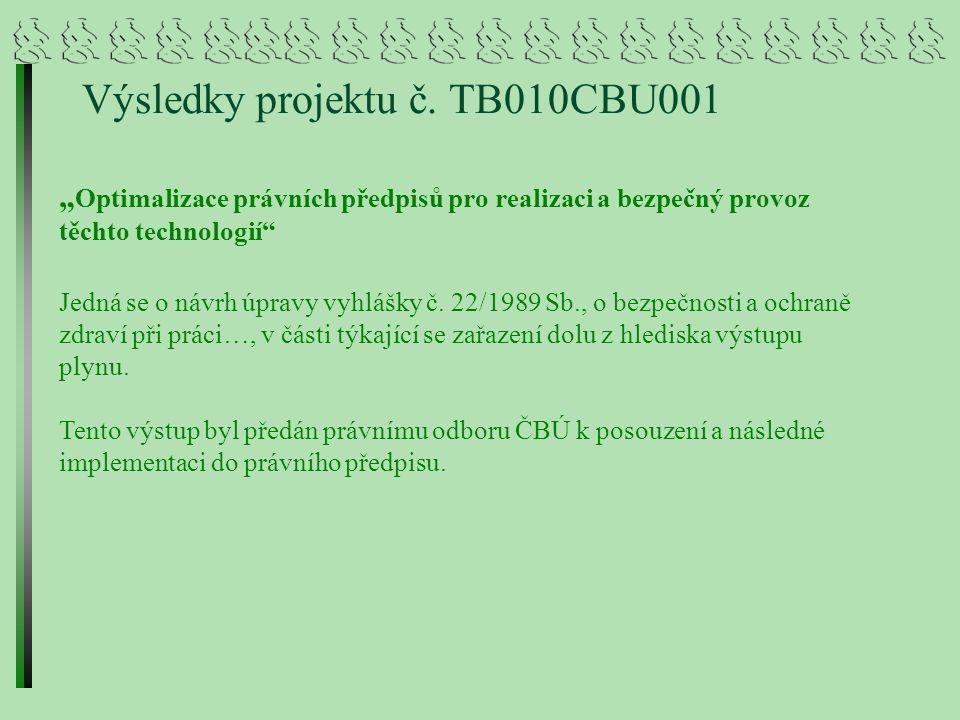 """Projekt TB010CBU002 """"Nové technologické možnosti dobývání ložisek uranu v ČR s ohledem na minimalizaci dopadů na životní prostředí a jejich legislativní zajištění Řešitel : MEGA, a.s."""