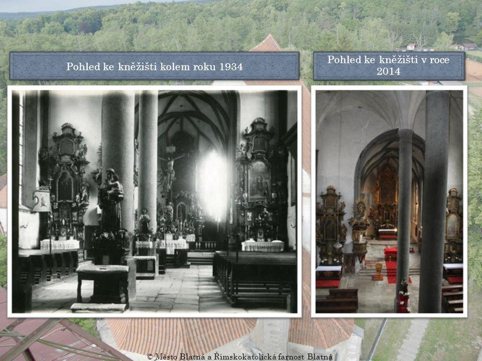 Pohled na hlavní vstup kolem roku 1910 Pohled na hlavní vstup v roce 2014 © Město Blatná a Římskokatolická farnost Blatná