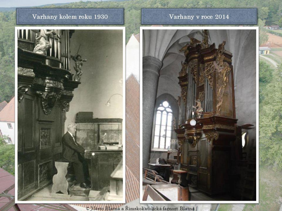Pohled do dvoulodí kolem roku 1900 Pohled do dvoulodí v roce 2014 © Město Blatná a Římskokatolická farnost Blatná