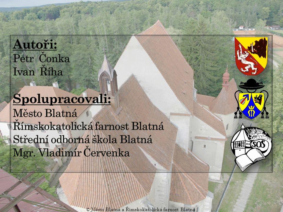 Blatenská madona Krucifix v kněžišti © Město Blatná a Římskokatolická farnost Blatná